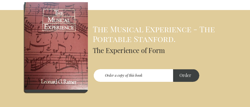 The Experience of Form