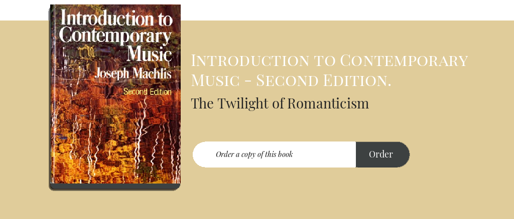 The Twilight of Romanticism